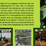 Une affiche qui valorise les projets de jardin partagé